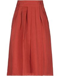 Maliparmi Knee Length Skirt - Red