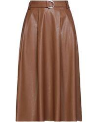 Imperial Midi Skirt - Brown