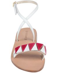 Positano By Jean Paul Sandals - White