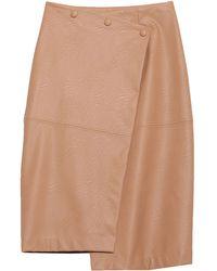 Nude Midi Skirt - Natural