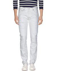 Fabric-Brand & Co. Denim Trousers - White