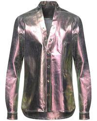 Rick Owens Denim Shirt - Purple