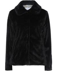 CafeNoir Teddy Coat - Black