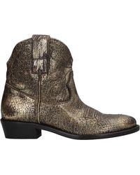 Key Té Ankle Boots - Metallic