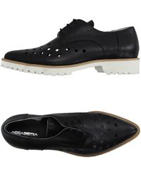 Accademia - Lace-Up Calfskin Shoes - Lyst