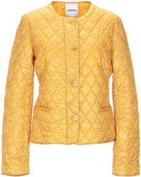 Aspesi Synthetic Down Jacket - Yellow