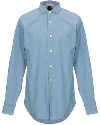 Eleventy Denim Shirt - Blue