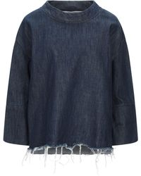 Manila Grace Chemise en jean - Bleu