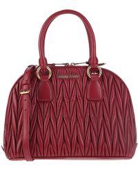 Miu Miu Handtasche aus Matelassé-Leder - Rot