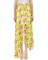 MSGM Long Skirt - Yellow