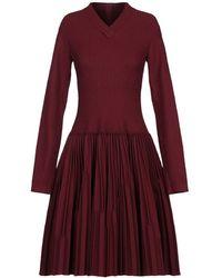 Alaïa Vestido por la rodilla - Rojo