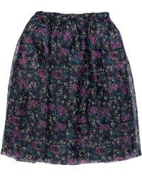 Plan C Midi Skirt - Purple