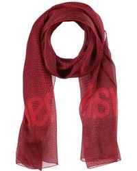 9d119a99978 Lyst - Foulard Versace en coloris Rouge