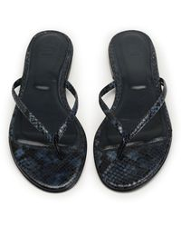 8 by YOOX Toe Post Sandals - Blue