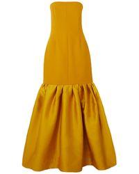 Solace London Vestido largo - Amarillo