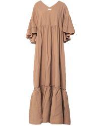 Satine Label Long Dress - Natural