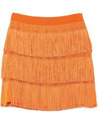 Alberta Ferretti Mini Skirt - Orange
