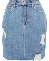 L'Agence Denim Skirt - Blue