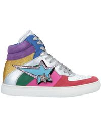 908d2a9d7330 Lyst - Jeremy Scott for adidas JS Tubular Floral Mid Top Sneakers in ...