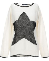 Blue Les Copains Sweater - White