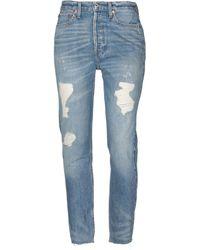 RE/DONE - Pantalon en jean - Lyst