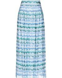 Emporio Armani Long Skirt - Blue
