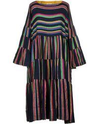 Péro Knee-length Dress - Blue