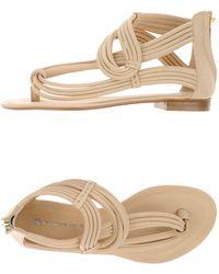 La Bottega Dell'artigiano - Toe Strap Sandal - Lyst