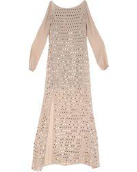 Patrizia Pepe Long Dress - Natural