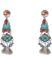Ayala Bar Earrings - Blue