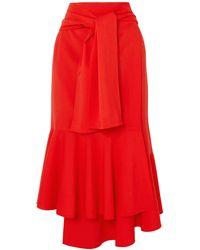 ADEAM 3/4 Length Skirt - Red