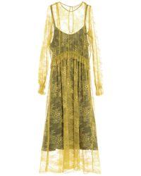 Shirtaporter 3/4 Length Dress - Yellow