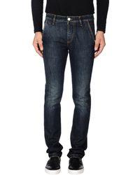 Camouflage AR and J. Pantaloni jeans - Blu