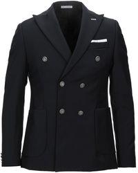 Grey Daniele Alessandrini Suit Jacket - Black