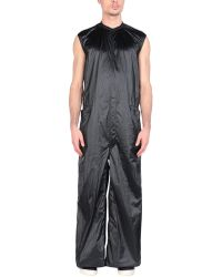 Rick Owens Drkshdw Salopette pantaloni lunghi - Nero