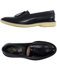 e16997583fc Adieu Two-Tone Crepe-Soled Penny Loafers in Black for Men - Lyst