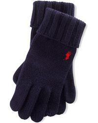 Polo Ralph Lauren Merino Wool Gloves - Blue