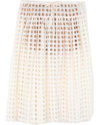 Chloé 3/4 Length Skirt - White