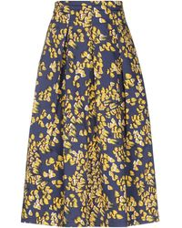 Via Masini 80 3/4 Length Skirt - Multicolour