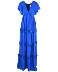 Leitmotiv Vestido largo - Azul