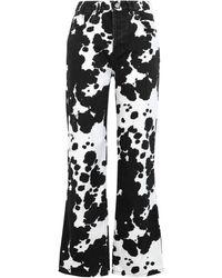 TOPSHOP Denim Trousers - White