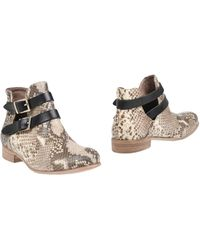 Manila Grace Ankle Boots - Natural