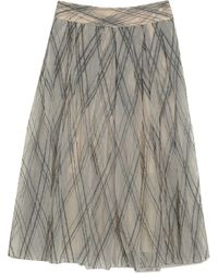Brunello Cucinelli 3/4 Length Skirt - Natural