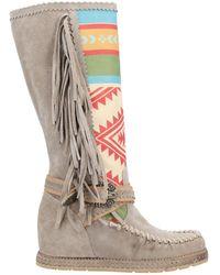 Divine Follie Knee Boots - Grey