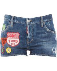 DSquared² Short en jean - Bleu