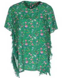 Space Style Concept Blouse - Green