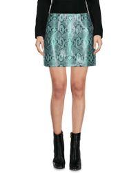 Au Jour Le Jour - Snakeskin Print A-line Skirt - Lyst