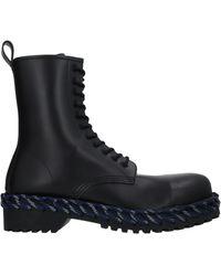 Balenciaga Woven Detail Lace-up Boots - Black