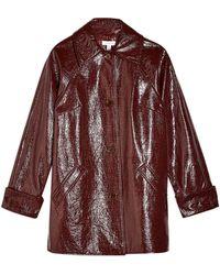 TOPSHOP Crinkle Pu Coat - Multicolour