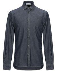 Aglini Denim Shirt - Blue
